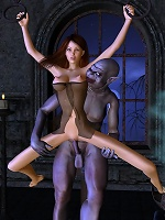 Awesome 3D Evil Priestess with floppy knockers