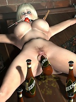 3D Belle gives head and filled by pervert Partner