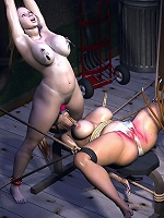 Nymph with soft tits gets 3D forest elf