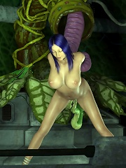 3D Elf Girl dominating and getting covered in cum