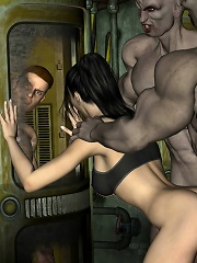 Seductive and tender 3D Hussy forced to please Man