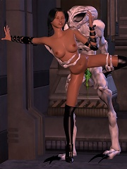 3D Hooker fucked by scared 3D Orc