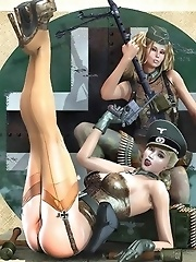 Perfect 3D army girls