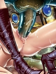 Hentai girls fucked by monsters