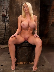 California blond with huge...