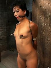 Asian MILF with huge nipples...