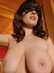 Sultry Babe Flirts Through Her Mask