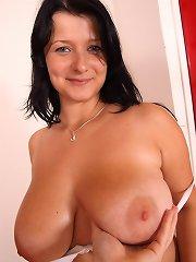 Jane Black sucking and boobs fucking boner for sticky facial