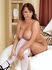 Stacked pornographic star tippi topps shows off her giant rack.