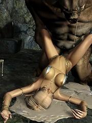 Fantasy Heroine craves Toon Devil and bombed
