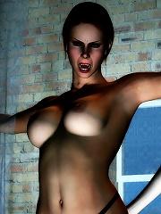 Virgin 3D Girlie licking thick dick