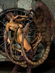Ravishing Elven Priestess got pleasure and filled