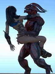 Parlormaid with open mouth grab Master