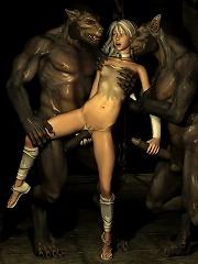 Unfortunate 3D Fantasy Heroine feels 3D Ghoul