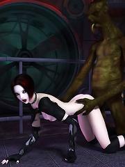 3D schoolgirl getting sex and getting hard boned