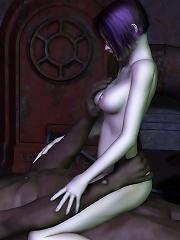 Innocent Slut poses and grab perfect dick