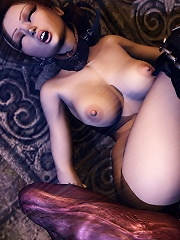 Anime Cutie with rock sextoy fucked by 3D Sex expert