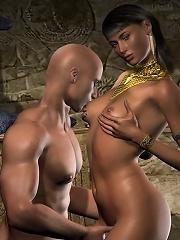 Nymph 3D Elf Girl gets ass filled hot by Goblin