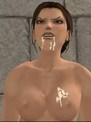 3D Girl boned in mouth and squirts juices