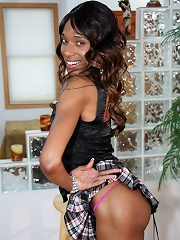 Ebony Tranny Heaven is exactly what her name implies! Shes a new girl to the industry and eager to perform. She has a fat, juicy cock and is quite the