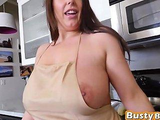 Brunette Goddess Tasting Fat Black Dick In Pov