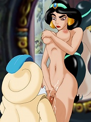 Jasmine fucked by the Sultan in front of the mirror
