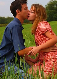 In the soft grass of this field, this teen has her soft pussy penetrated and pounded. She looks so innocent, but loves a good hard fuck