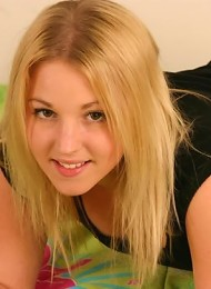nubile and youthful blonde girl