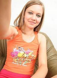 Naughty Monika self photographs her sexy body