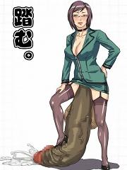 Ton of horny anime dickgirls