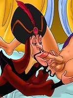 Aladdin and his exotic lovers caught fucking hard