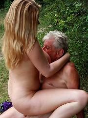 Peeking at tits brings senior sex