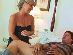 Slim Granny With Small Tits Gets Dirty With A College Guy