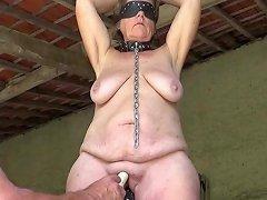 Mature Slave Masturbated
