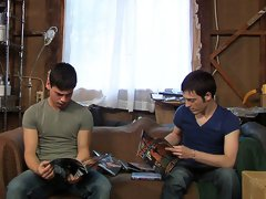 Hot gay blowjob clips with two cute boys