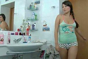 Chubby Teen Eleonora Fucks Her Step Brother In The Bathroom