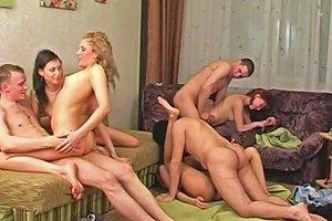 Stunning Group Sex Scene With Amateur Teen Sluts Riding Cocks