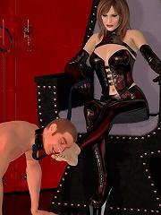 3D Neko-girl getting tortured outdoors