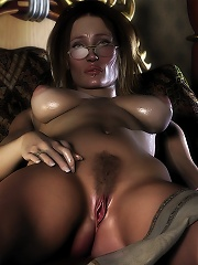 Chained Admirer fucked her cunt