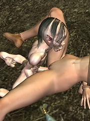 Lesbian Vigrin getting a foreplay and taking