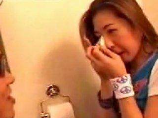 Korean Babe Bathroom Banged