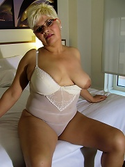 Blonde housewife getting naughty when shes alone