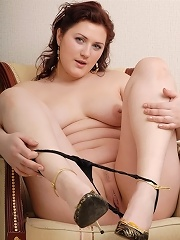 Hot chubby rookie plays with a little rubber cock