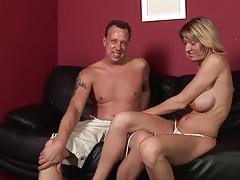 Busty MILF gets her huge tits creamed after banging