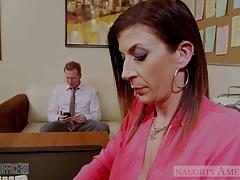 Brunette milf Sara Jay fucking in the office