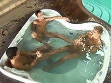 Sexy gay threesome pics