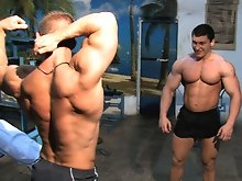 What is it about two young testosterone-laden musclepups when they get together at a late night gym, and no one is particularly watching (except for y