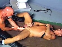 Dildo pounding fun with two bear studs named Dale West and Steve Hurley