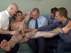 Cute gay boy on CMNM action