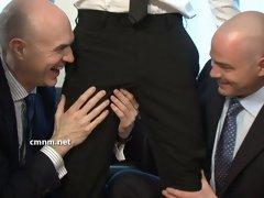 Several horny men explore a nice cock in these CMNM gay videos
